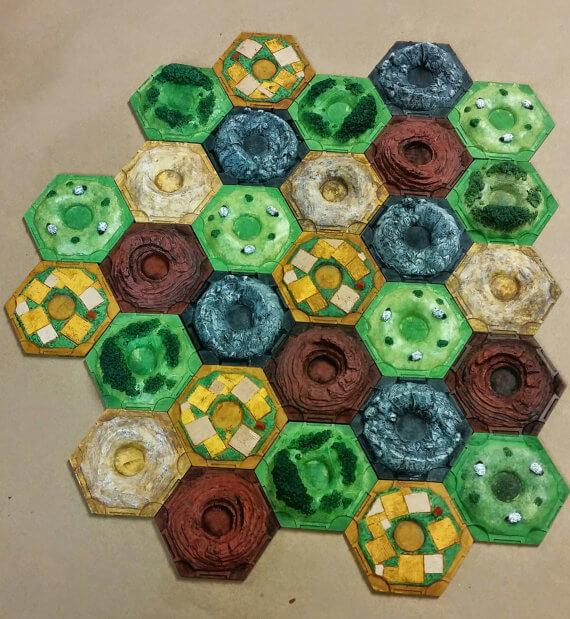 Catan Resource Tiles
