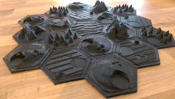 Unpainted Catan Tiles